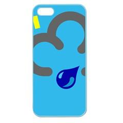 Light Rain Shower Cloud Sun Yellow Blue Sky Apple Seamless Iphone 5 Case (color) by Mariart