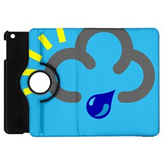 Light Rain Shower Cloud Sun Yellow Blue Sky Apple Ipad Mini Flip 360 Case by Mariart