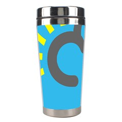 Light Rain Shower Cloud Sun Yellow Blue Sky Stainless Steel Travel Tumblers by Mariart