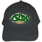 Celtic Ornament Black Cap Front