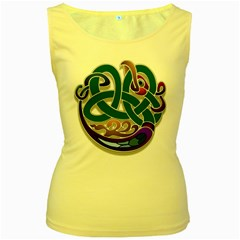 Celtic Ornament Women s Yellow Tank Top