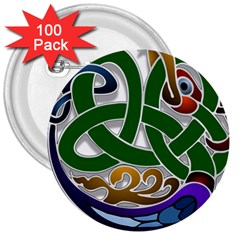 Celtic Ornament 3  Buttons (100 Pack)  by Nexatart