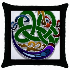 Celtic Ornament Throw Pillow Case (black)