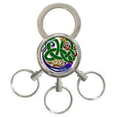 Celtic Ornament 3 Ring Key Chains by Nexatart