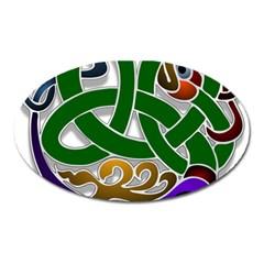 Celtic Ornament Oval Magnet by Nexatart