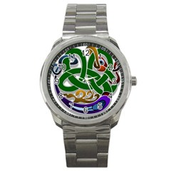 Celtic Ornament Sport Metal Watch