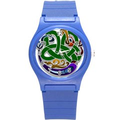 Celtic Ornament Round Plastic Sport Watch (s)