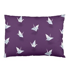 Goose Swan Animals Birl Origami Papper White Purple Pillow Case by Mariart