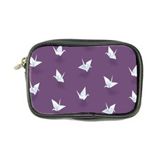 Goose Swan Animals Birl Origami Papper White Purple Coin Purse by Mariart