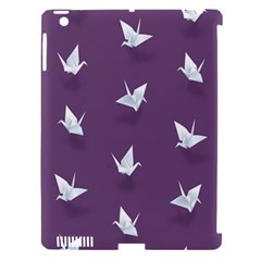 Goose Swan Animals Birl Origami Papper White Purple Apple Ipad 3/4 Hardshell Case (compatible With Smart Cover) by Mariart