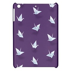 Goose Swan Animals Birl Origami Papper White Purple Apple Ipad Mini Hardshell Case by Mariart