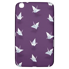 Goose Swan Animals Birl Origami Papper White Purple Samsung Galaxy Tab 3 (8 ) T3100 Hardshell Case  by Mariart