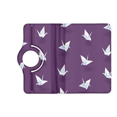 Goose Swan Animals Birl Origami Papper White Purple Kindle Fire Hd (2013) Flip 360 Case by Mariart