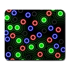 Neons Couleurs Circle Light Green Red Line Large Mousepads by Mariart