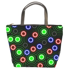 Neons Couleurs Circle Light Green Red Line Bucket Bags by Mariart