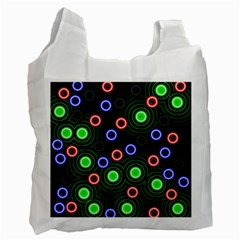 Neons Couleurs Circle Light Green Red Line Recycle Bag (one Side) by Mariart