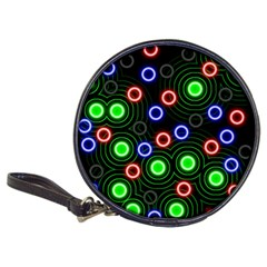 Neons Couleurs Circle Light Green Red Line Classic 20 Cd Wallets by Mariart