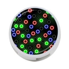 Neons Couleurs Circle Light Green Red Line 4 Port Usb Hub (two Sides)  by Mariart