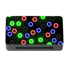 Neons Couleurs Circle Light Green Red Line Memory Card Reader With Cf by Mariart