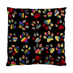 Colorful Paw Prints Pattern Background Reinvigorated Standard Cushion Case (two Sides) by Nexatart