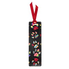 Colorful Paw Prints Pattern Background Reinvigorated Small Book Marks by Nexatart
