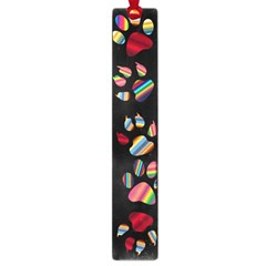 Colorful Paw Prints Pattern Background Reinvigorated Large Book Marks