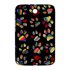 Colorful Paw Prints Pattern Background Reinvigorated Samsung Galaxy Note 8 0 N5100 Hardshell Case