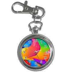 Paint Rainbow Color Blue Red Green Blue Purple Key Chain Watches by Mariart