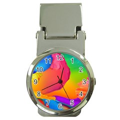 Paint Rainbow Color Blue Red Green Blue Purple Money Clip Watches by Mariart