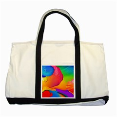 Paint Rainbow Color Blue Red Green Blue Purple Two Tone Tote Bag by Mariart