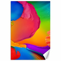 Paint Rainbow Color Blue Red Green Blue Purple Canvas 24  X 36  by Mariart