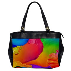Paint Rainbow Color Blue Red Green Blue Purple Office Handbags by Mariart