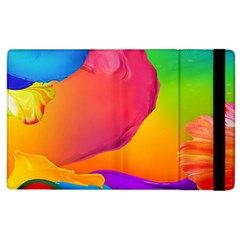 Paint Rainbow Color Blue Red Green Blue Purple Apple Ipad 3/4 Flip Case by Mariart