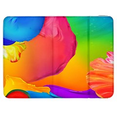 Paint Rainbow Color Blue Red Green Blue Purple Samsung Galaxy Tab 7  P1000 Flip Case by Mariart
