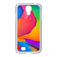 Paint Rainbow Color Blue Red Green Blue Purple Samsung Galaxy S4 I9500/ I9505 Case (white) by Mariart