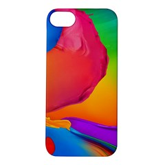 Paint Rainbow Color Blue Red Green Blue Purple Apple Iphone 5s/ Se Hardshell Case
