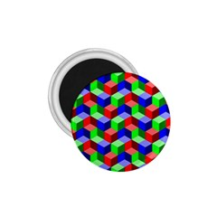 Seamless Rgb Isometric Cubes Pattern 1 75  Magnets by Nexatart