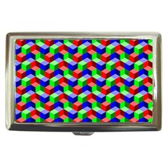 Seamless Rgb Isometric Cubes Pattern Cigarette Money Cases