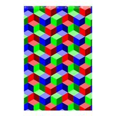 Seamless Rgb Isometric Cubes Pattern Shower Curtain 48  X 72  (small)  by Nexatart