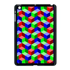 Seamless Rgb Isometric Cubes Pattern Apple Ipad Mini Case (black)