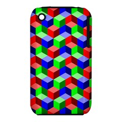 Seamless Rgb Isometric Cubes Pattern Iphone 3s/3gs