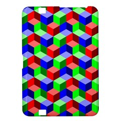 Seamless Rgb Isometric Cubes Pattern Kindle Fire Hd 8 9