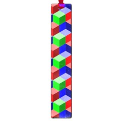 Seamless Rgb Isometric Cubes Pattern Large Book Marks