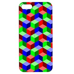 Seamless Rgb Isometric Cubes Pattern Apple Iphone 5 Hardshell Case With Stand