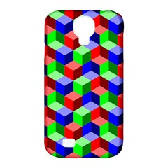 Seamless Rgb Isometric Cubes Pattern Samsung Galaxy S4 Classic Hardshell Case (pc+silicone)