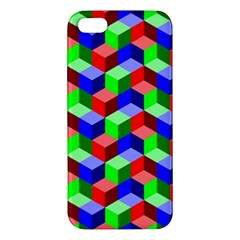 Seamless Rgb Isometric Cubes Pattern Iphone 5s/ Se Premium Hardshell Case by Nexatart