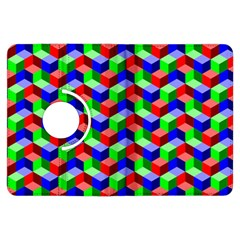Seamless Rgb Isometric Cubes Pattern Kindle Fire Hdx Flip 360 Case