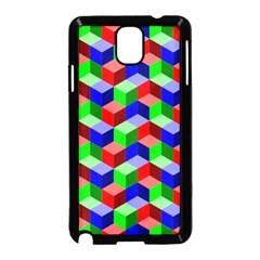 Seamless Rgb Isometric Cubes Pattern Samsung Galaxy Note 3 Neo Hardshell Case (black)