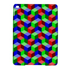 Seamless Rgb Isometric Cubes Pattern Ipad Air 2 Hardshell Cases by Nexatart