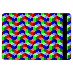 Seamless Rgb Isometric Cubes Pattern Ipad Air 2 Flip by Nexatart